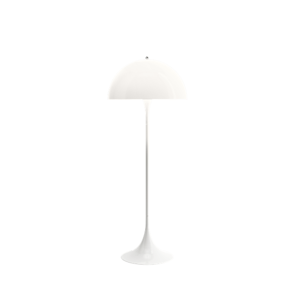 Panthella vloerlamp Wit opaal acryl