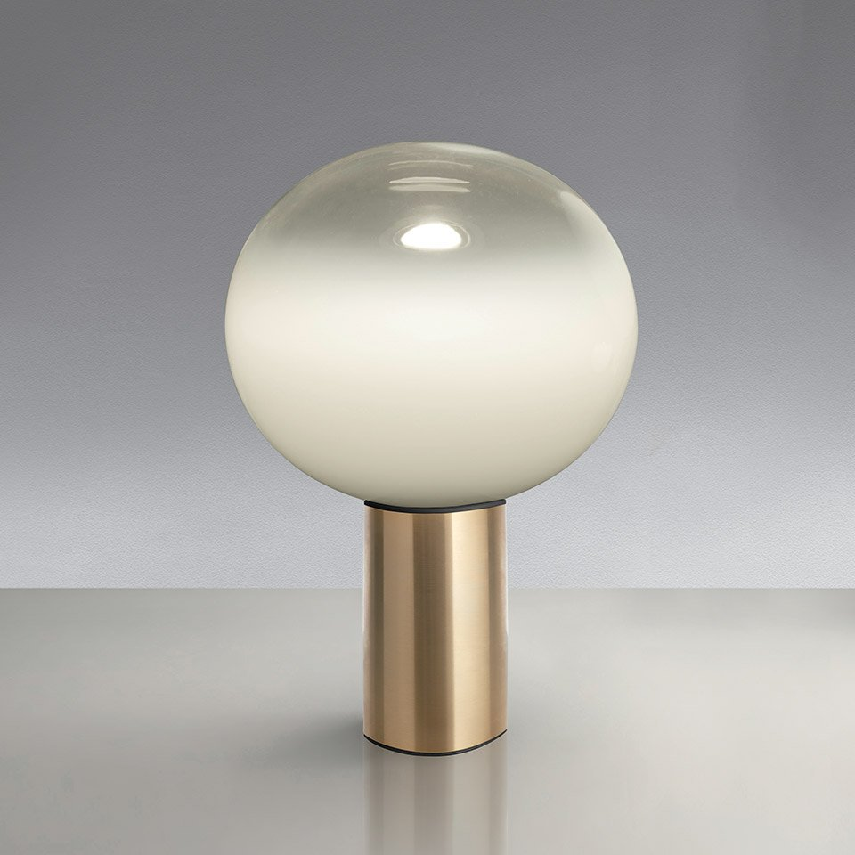 Artemide Laguna 16 Table Satin Brass