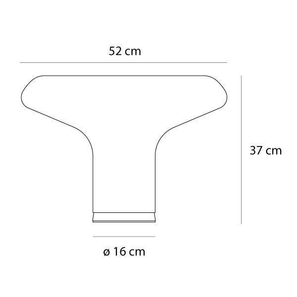 Artemide Lesbo tafellamp afmetingen