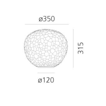 Artemide Meteorite 35 tafellamp afmetingen