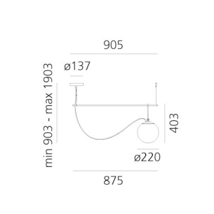 Artemide nh S2 22 hanglamp afmetingen