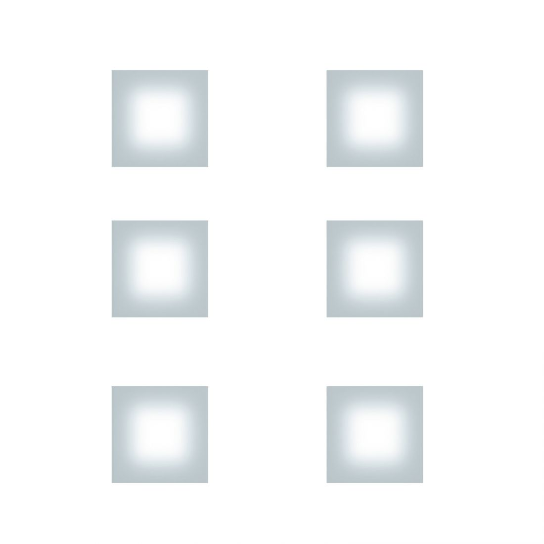 Fontana Arte Sole 6-lichts Vierkant Wand-Plafondlamp